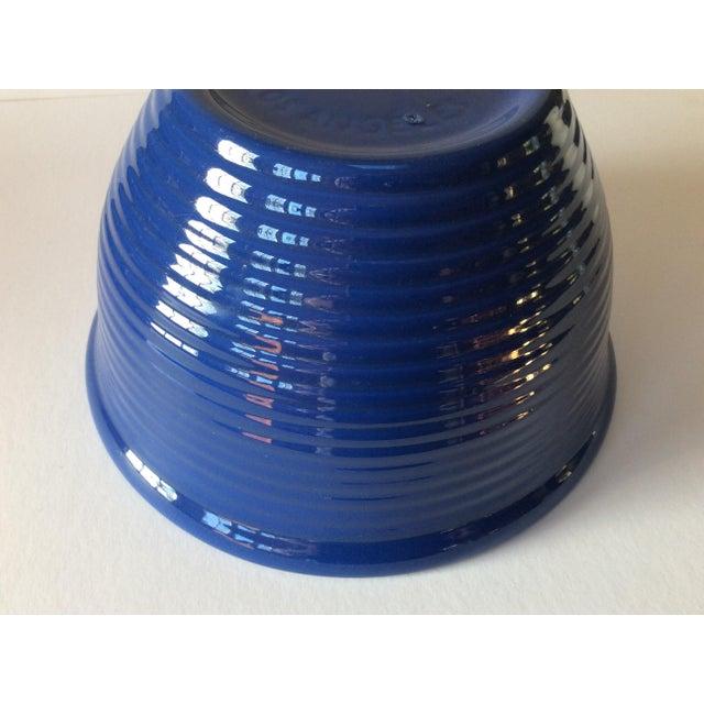 1960s Vintage Bauer Blue Pottery Bowl For Sale - Image 5 of 6