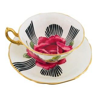 English Bone China Teacup & Saucer - A Pair