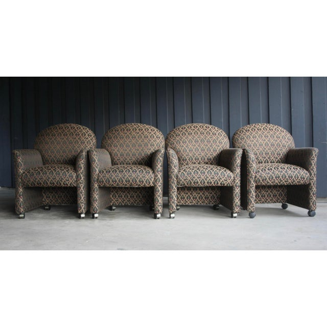 Contemporary 1980s Contemporary Armchairs, Set of 4 For Sale - Image 3 of 13