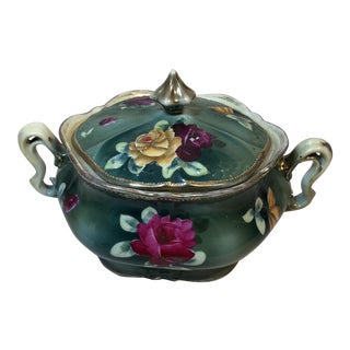 Nippon Floral Hand Painted Vegetable Bowl/Tureen