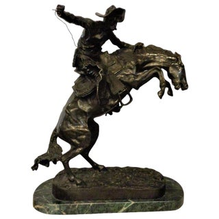 Sculpture Remington the Bronco Buster Large For Sale