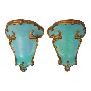 Antique Venetian Plaster Brackets, Pair For Sale