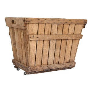 French Grape Crate on Casters 1 For Sale