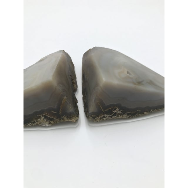 Beautiful pair of Agate Bookends. Great shelf accents!