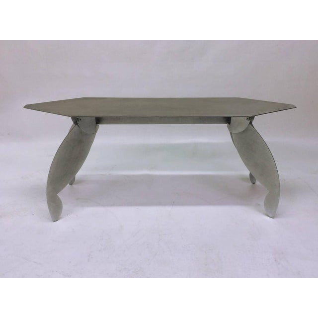Sculptural Steel Console Table - Image 2 of 5