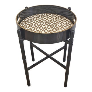 Round Black Tray Table For Sale