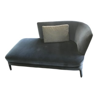 "Maxalto Italian 'Febo Dormeuse - Right"" Chaise Lounge With Pillow"