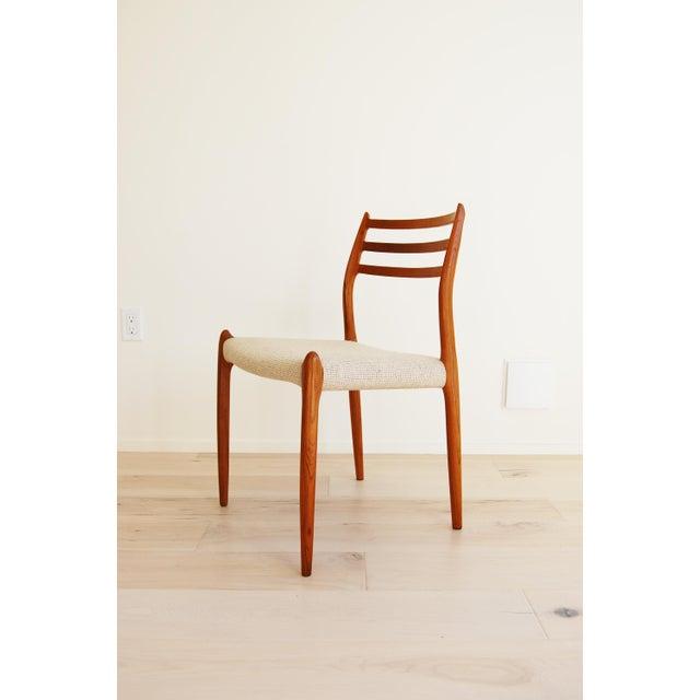 Niels Moller J L Moller Danish Modern Model 78 Teak Dining Chair - Set of 4 For Sale - Image 4 of 13
