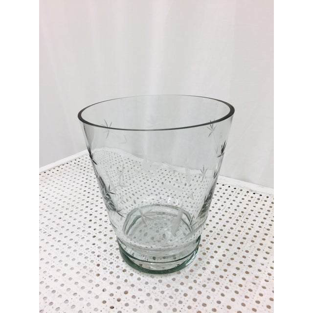 Large Etched Glass Vase For Sale In Raleigh - Image 6 of 10