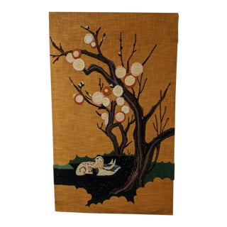 Flowering Tree Woven Tapestry Wall Hanging For Sale