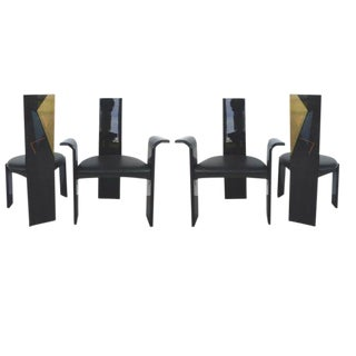 Lacquered Golem Chairs in the Manner of Magestretti — Set of 4