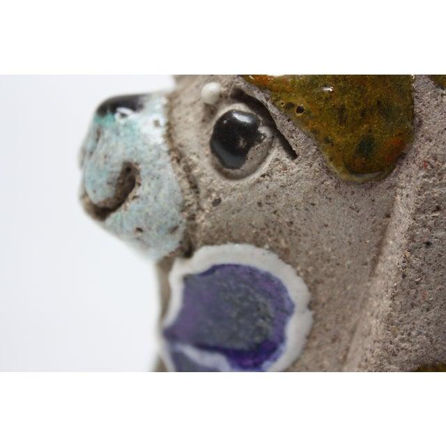 Charming Swedish Modern Ceramic Dog Figurine by Thomas Hellström for Nittsjö Keramik For Sale In New York - Image 6 of 13