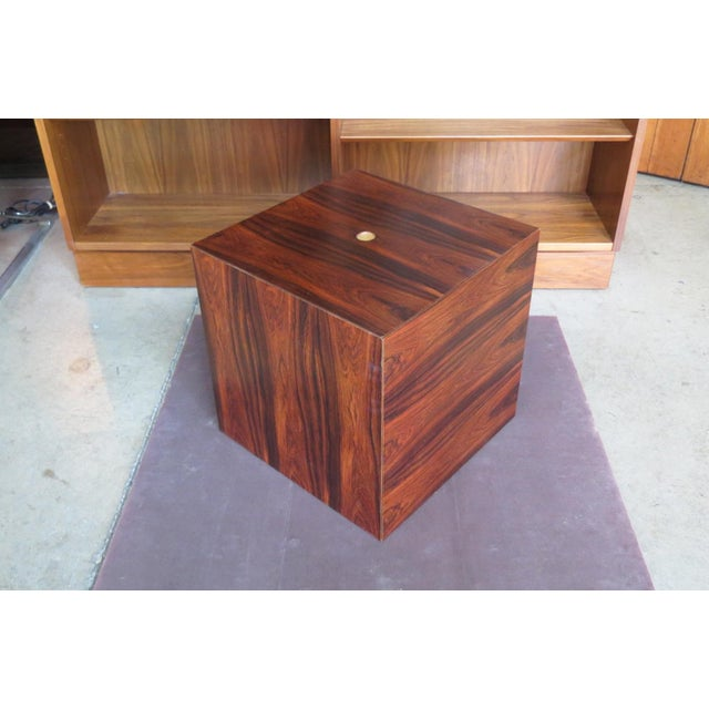 1960s Mid Century Modern Rare Rosewood Nesting Table Set For Sale In Seattle - Image 6 of 11