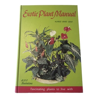 1970s Vintage Exotic Plant Book For Sale