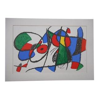 Large Vintage Ltd. Ed. Joan Miro Lithograph-Original Design For Sale