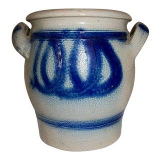 Cobalt Blue German Pottery Crock Jar