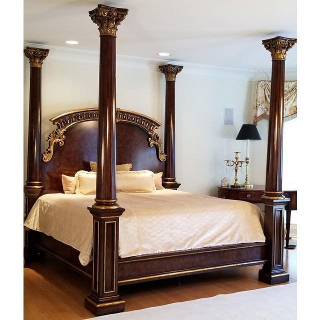 Traditional Henredon Arabesque Bedframe For Sale - Image 10 of 13