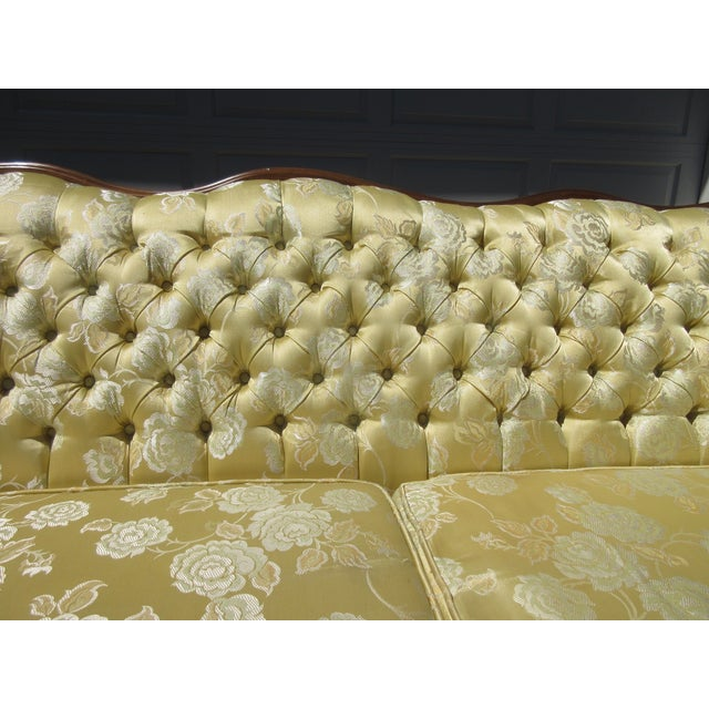 French-Style Yellow Rose Sofa - Image 6 of 8