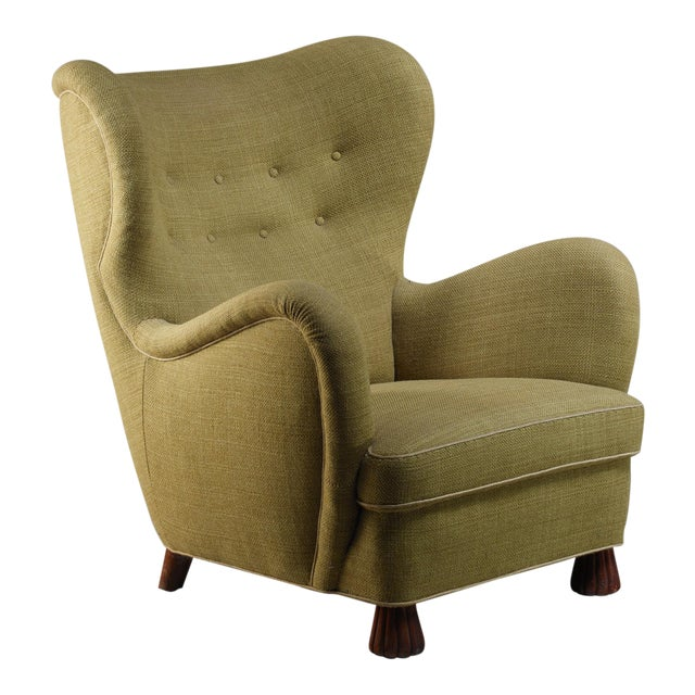 Otto Schulz High Back Armchair for Boet, Sweden, 1930s For Sale