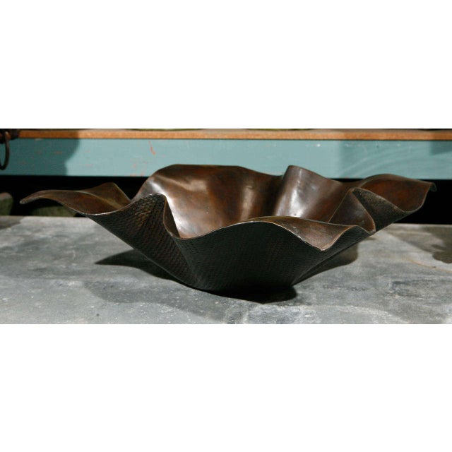 Contemporary Large Bronze Handkerchief Planter For Sale - Image 3 of 8