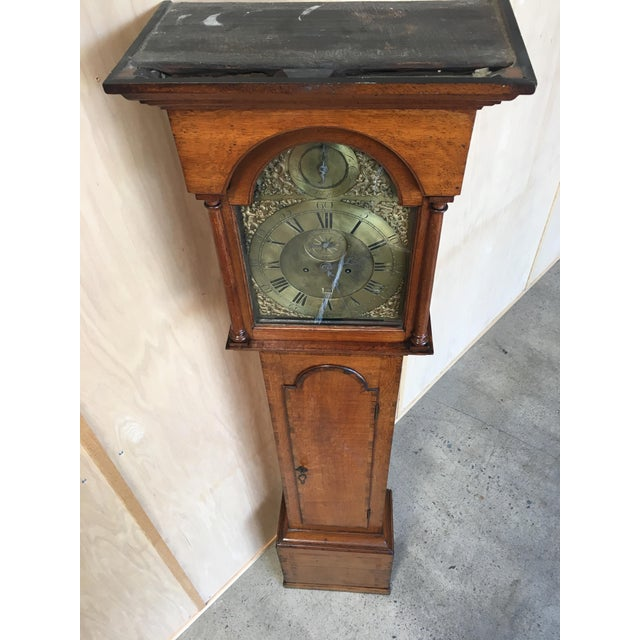 Georgian 18th Century Longcase 8 Day Time & Strike Clock For Sale - Image 3 of 13