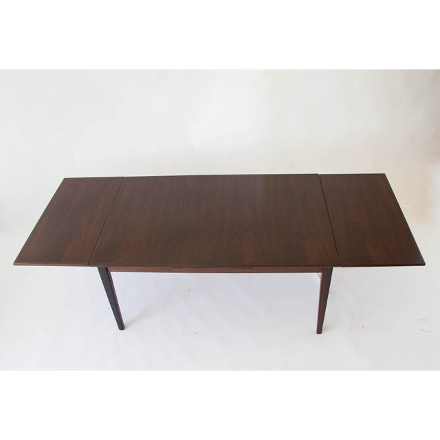 Rosewood Rosewood Dining Table with Dutch Extension by Gudme For Sale - Image 7 of 9
