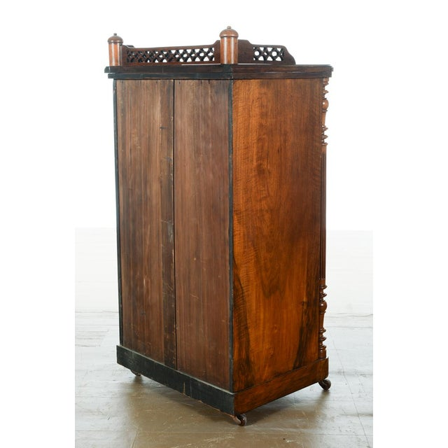 Antique Carved Mahogany Music Cabinet - Image 8 of 10