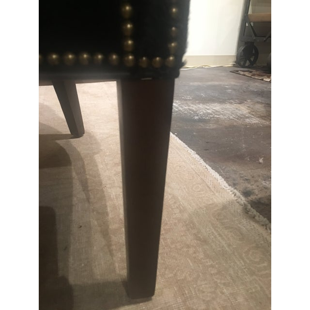 Gold Serengeti Black Leather Hyde Chair For Sale - Image 8 of 11