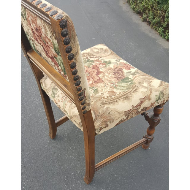 Brown 1940s Vintage Upholstered Dining Chairs- Set of 8 For Sale - Image 8 of 13