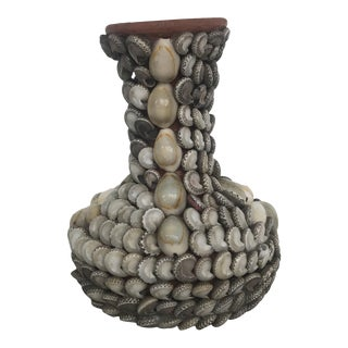 Shell Encrusted Bud Vase For Sale