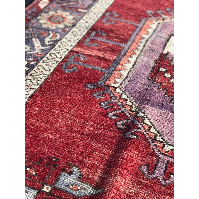 "Textile Vintage Turkish Oushak Runner - 5' X 13'3"" For Sale - Image 7 of 13"