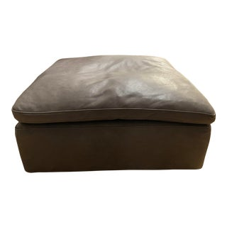 Modern Leather Restoration Hardware Cloud Ottoman For Sale