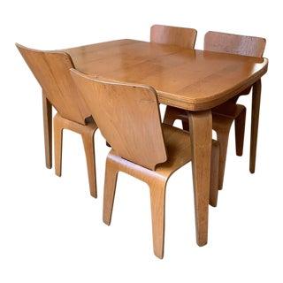 Thaden-Jordan Birch Bentwood Dining Set - 5 Pieces For Sale