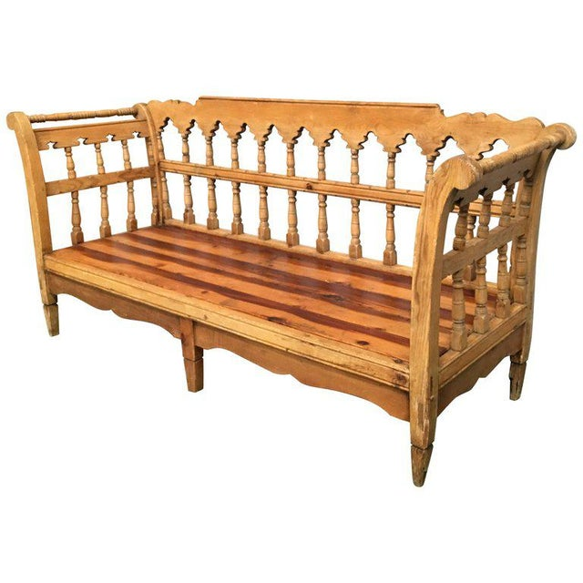 19th Century Large Pine Country Bench or Daybed For Sale - Image 11 of 11