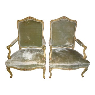 Louis XV Epoch Armchairs - A Pair For Sale