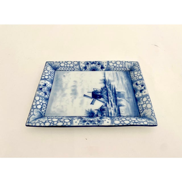 Traditional Antique 1920s Delft Trinket Dish For Sale - Image 3 of 5