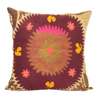Faded Red Suzani Pillow For Sale