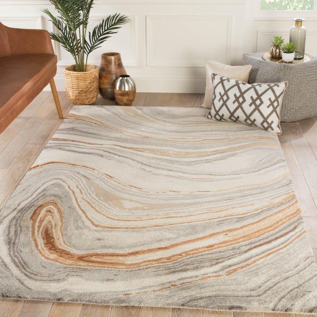 2010s Jaipur Living Atha Handmade Copper/ Gray Area Rug - 8′ × 11′ For Sale - Image 5 of 6