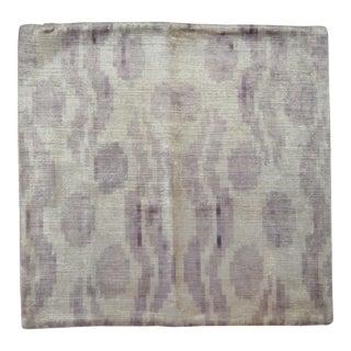 Purple Silk Velvet Pillow With Organic Motifs For Sale
