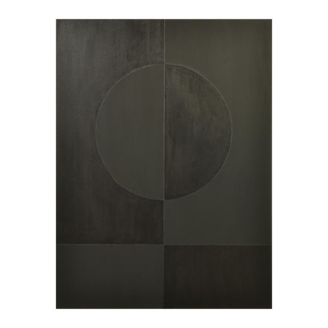 Eclipse Double Black Painting by Stephen Hansrote For Sale In Dallas - Image 6 of 6