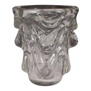 Mid-Century Modern Sculptural Handblown Glass Vase by Charles Schneider For Sale