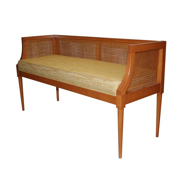 2010s Customizable Viktor Caned Maple Bench For Sale - Image 5 of 9