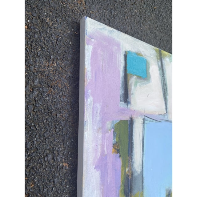 "Contemporary Sarah Trundle Contemporary Abstract Painting ""Meet Me on the Corner"" For Sale - Image 3 of 3"