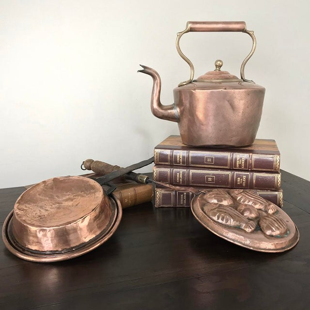 19th Century Copper Pan ~ Mold was hand-crafted to add a visual effect to the dining experience, only in the finest of...