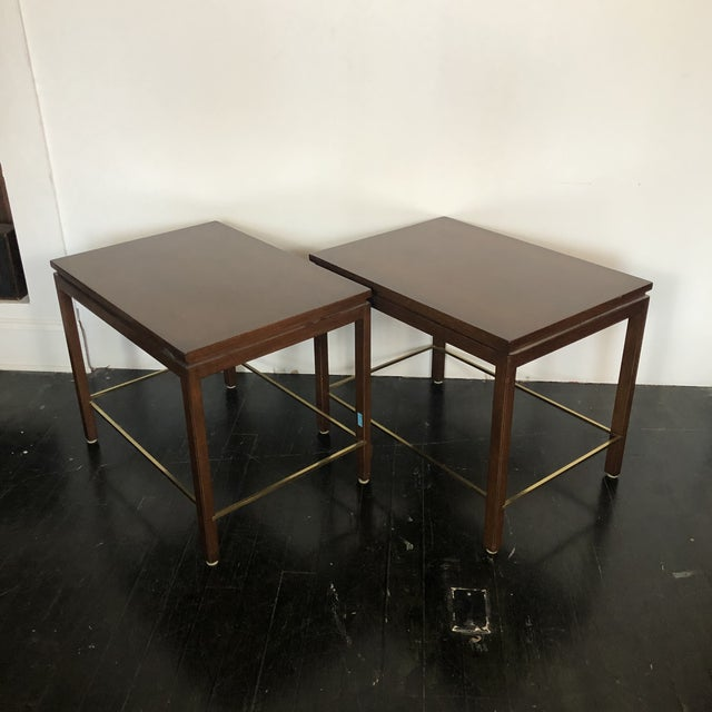 Mid-Century Modern Edward Wormley Dunbar Side Tables - a Pair For Sale - Image 3 of 12