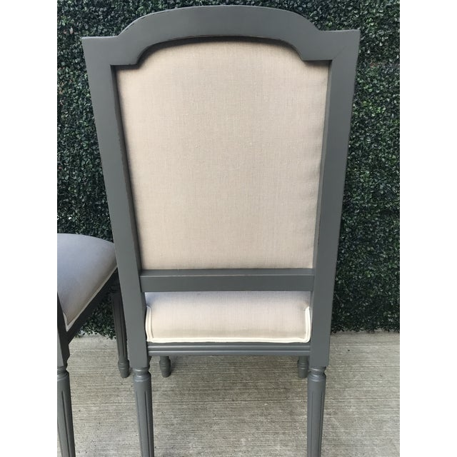 Sarried Ltd Louis XVI Gray Squared Side Chairs - A Pair For Sale - Image 9 of 13