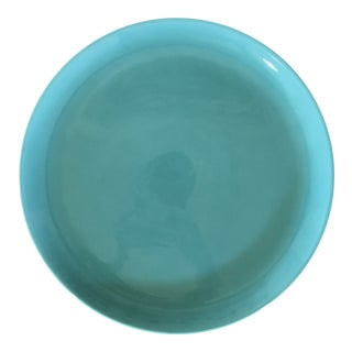 1950s Boho Chic Metlox Turquoise Pottery Plater For Sale