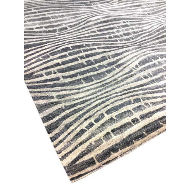 "Modern Bamboo Silk Area Rug - 9'x 11'8"" - Image 3 of 5"