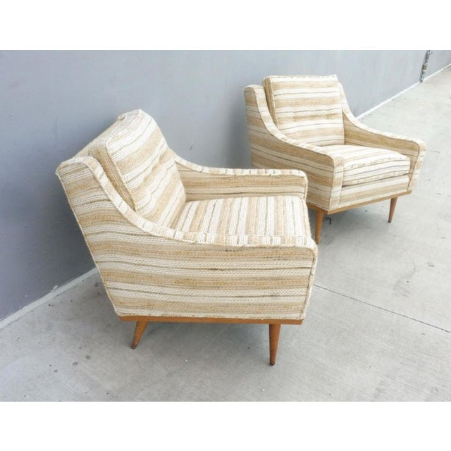 Mid-Century Modern 1960s Mid-Century Modern Milo Baughman for James Inc Articulate Lounge Chairs - a Pair For Sale - Image 3 of 11