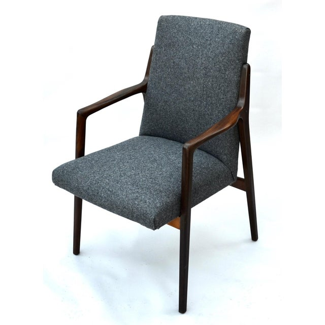 Danish Mid Century Modern Highback Walnut Chair Pair For Sale In Los Angeles - Image 6 of 7